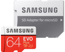 Samsung microSDXC EVO+ 64 GB 100MB/s CL 10 + SD adapter