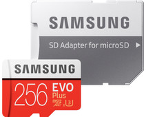 Samsung microSDXC EVO+ 256GB 100MB/s CL 10 + SD adapter