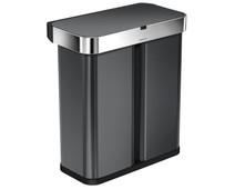 Simplehuman Liner Pocket Voice Control Recycler 24+34 liter Zwart