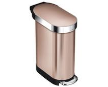 Simplehuman Slim 45 liter Rosé Goud