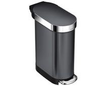Simplehuman Slim 45 liter Zwart