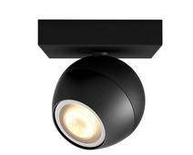 Philips Hue Buckram opbouwspot White Ambiance 1-lichts Zwart Bluetooth