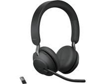 Jabra Evolve2 65 Link380a MS Stereo Stand Black