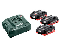 Metabo 18V 4.0Ah Li-Ion battery (3x) + Battery charger