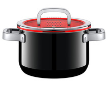 WMF FusionTec Functional Cooking Pot 20cm + lid Black