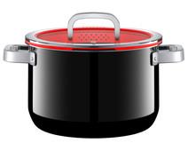 WMF FusionTec Functional Cooking Pot 24cm + Lid Black