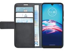 Azuri Wallet Motorola Moto E6s Book Case Zwart