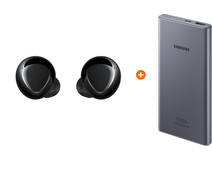 Samsung Galaxy Buds + Black + Power bank