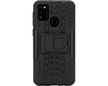 Just in Case Rugged Samsung Galaxy M21 Back Cover Zwart