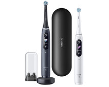 Oral-B iO - 8n - Electric Toothbrushes White and Black Duo Pack