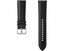 Samsung Galaxy Watch3 41 mm Leren Bandje Zwart 20 mm