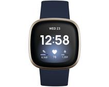 Fitbit Versa 3 Blauw/Goud