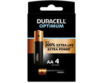 Duracell Alka Optimum AA batteries 4 units