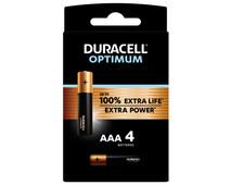 Duracell Alka Optimum AAA-batterijen 4 stuks