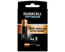 Duracell Alka Optimum AA batteries 5 units