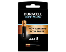 Duracell Alka Optimum AAA batteries 5 units