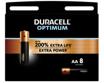 Duracell Alka Optimum AA batteries 8 units