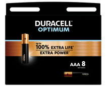 Duracell Alka Optimum AAA batteries 8 units