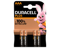 Duracell Alka Plus AAA batteries 4 units