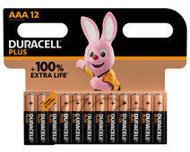 Duracell Alka Plus AAA batteries 12 units