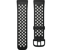 Fitbit Versa 3/Sense Silicone Strap Black/Lunar White