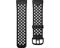 Fitbit Versa 3/Sense Silicone Strap Black/Lunar White S