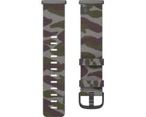Fitbit Versa 3/Sense Nylon Bandje Groen Camouflage L