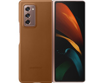 Samsung Galaxy Z Fold2 Back Cover Leer Bruin