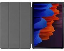 Just in Case Tri-Fold Samsung Galaxy Tab S7 Book Case Zwart
