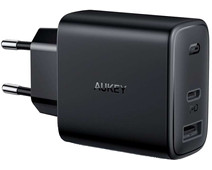 Aukey PA-F3 Oplader Zonder Kabel 2 Usb Poorten 18W  Power Delivery