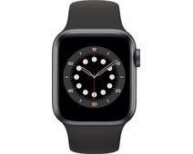 Apple Watch Series 6 40mm Space Gray Aluminium Zwarte Sportband