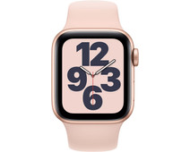 Apple Watch SE 40mm Goud Aluminium Roze Sportband