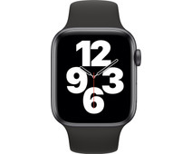 Apple Watch SE 44mm Space Gray Aluminium Zwarte Sportband