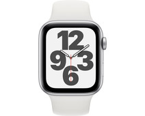 Apple Watch SE 44mm Silver Aluminum White Sport Band