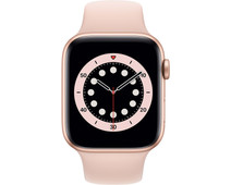 Apple Watch Series 6 44mm Goud Aluminium Roze Sportband