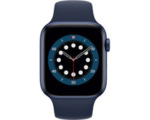Apple Watch Series 6 44mm Blauw Aluminium Blauwe Sportband
