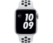 Apple Watch Nike Series 6 40mm Silver Aluminum White Sport Band