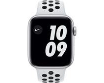 Apple Watch Nike Series 6 44mm Zilver Aluminium Witte Sportband