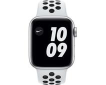 Apple Watch Nike SE 40mm Zilver Aluminium Witte Sportband