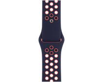 Apple Watch 42/44 mm Siliconen Horlogeband Nike Sport Blue Black/Bright Mango