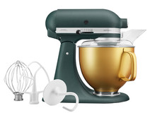 KitchenAid 5KSM156VGEPP Pebbled Palm + Gold Bowl