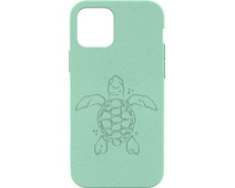 Pela Eco Friendly Apple iPhone 12 / 12 Pro Back Cover Blauw (Turtle Edition)
