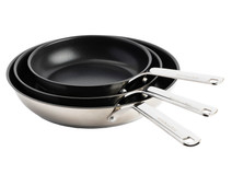 KitchenAid Stainless Steel Frying Pan Set 20 + 24 + 28cm