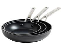 KitchenAid Forged Hardened Aluminium koekenpannen set 20 + 24 + 28 cm