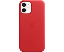 Apple iPhone 12 Mini Back Cover with MagSafe Leather RED