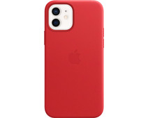 Apple iPhone 12 and 12 Pro Back Cover with MagSafe Leather RED