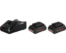 Bosch Professional Starterset 18V 4,0 Ah (2x accu + lader)