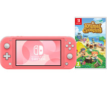 Nintendo Switch Lite Koraal + Animal Crossing + Nintendo Switch Online (3 maanden)