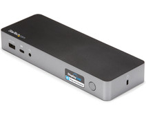 StarTech Hybride Universeel USB-C & USB-A Dock met Dual HDMI/DP en 60W PD
