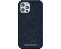 Nordic Elements Njord Apple iPhone 12 / 12 Pro Back Cover Leer Blauw